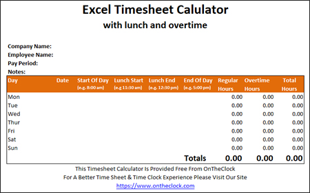 step 1 download the timesheet calculator
