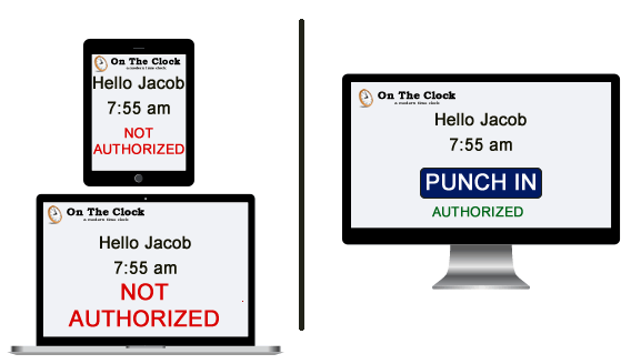 device authorization for punching